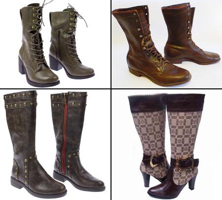 модные брендовые сапоги и ботинки