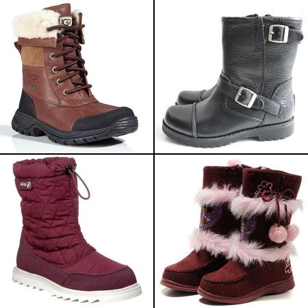 современная зимняя детская обувь