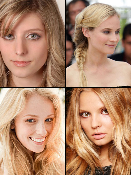 естественный макияж для блондинки
