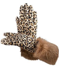 перчатки с меховой отделкой