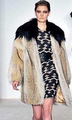 меховое пальто 2011-2012