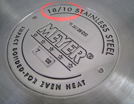 маркировка на дне кастрюли из нержавеющей стали
