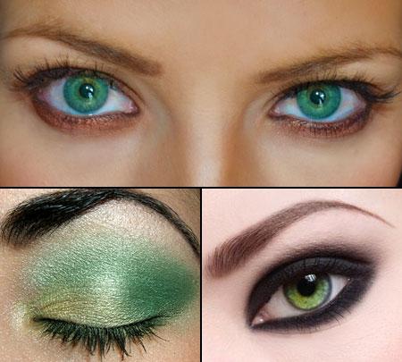 макияж для зеленоглазых женщин
