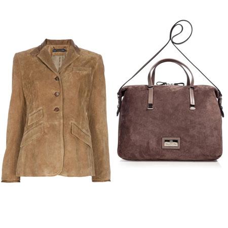 куртка и сумка из натуральной замши