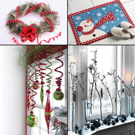 новогодние украшения для прихожей и окон