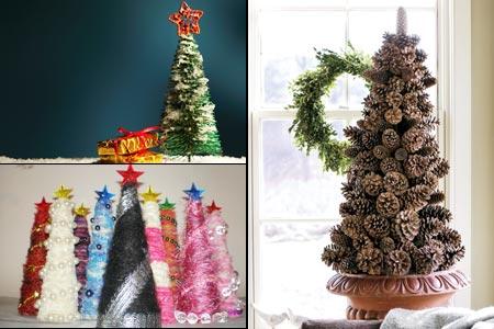 декоративные елки для украшения дома