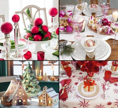 элементы декора для новогоднего стола