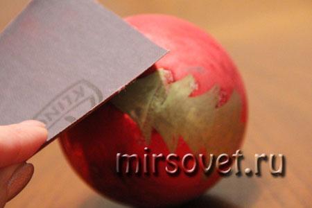 новогодний декупаж елочного шарика мастер класс фото 2