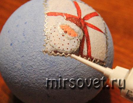 новогодний декупаж елочного шарика мастер класс фото 10