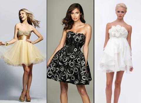 короткие платья для выпускниц