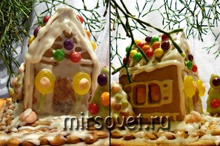 собранный пряничный домик фото 1, 2