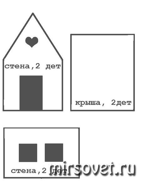 выкройка пряничного домика