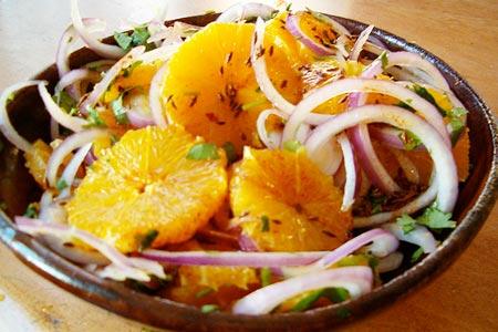 новогодний салат из апельсинов рецепт