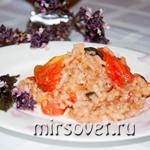 Рецепт приготовления ризотто с помидорами и базиликом