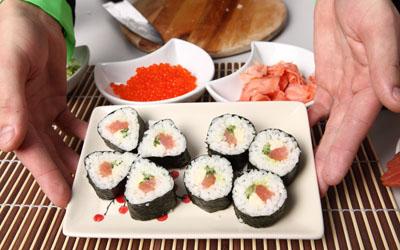 суши к столу
