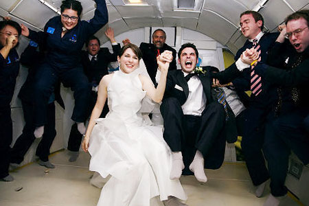 свадьба на самолете в невесомости