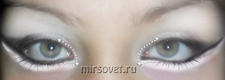 необычный свадебный макияж глаз