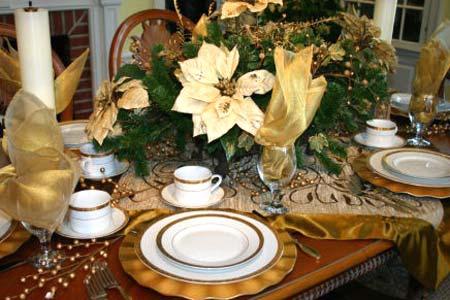 украсить новогодний стол в винтажном стиле