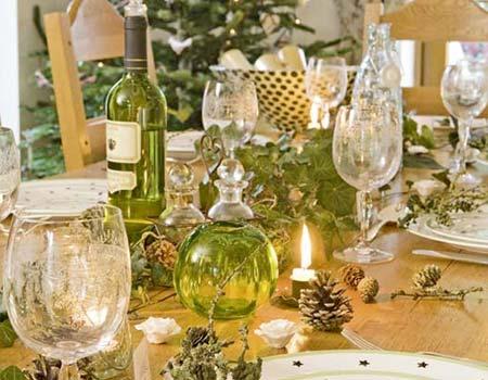 как декорировать новогодний стол
