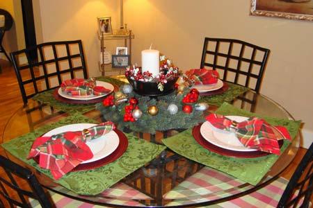 украшение новогоднего стола на 4 персоны