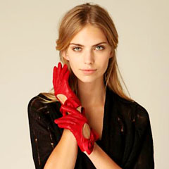 короткие женские перчатки