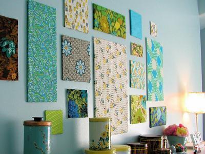 украшение стен тканью