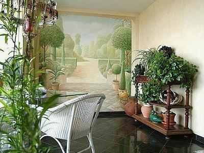 украшение стен росписью
