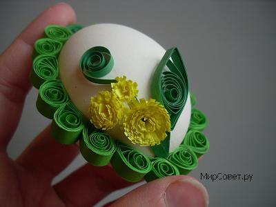 как сделать пасхальное яйцо-подвеску шаг 11