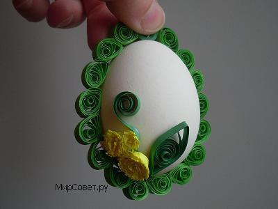 как сделать пасхальное яйцо-подвеску шаг 12