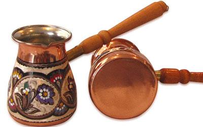 медная джезва для приготовления кофе