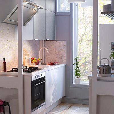 небольшая кухня в стиле модерн