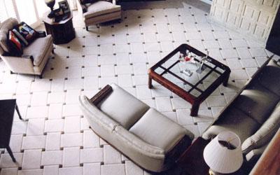 керамическая плитка в интерьере жилых комнат