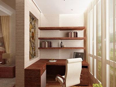 дизайн столовой на лоджии