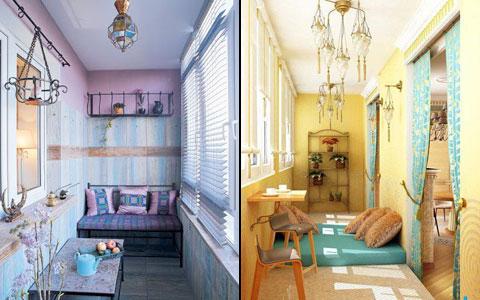 дизайн комнаты отдыха на лоджии