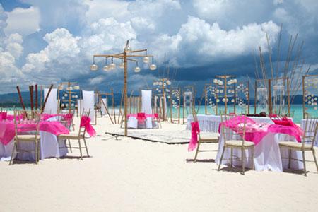 отметить свадьбу на пляже