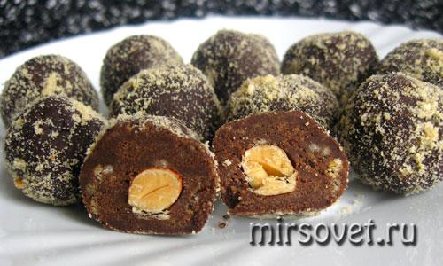 шоколадные конфеты с миндалем своими руками