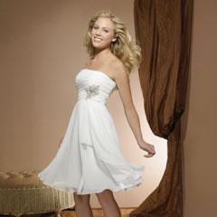 Короткие не пышные свадебные платья