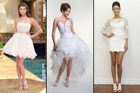 модели коротких свадебных платьев