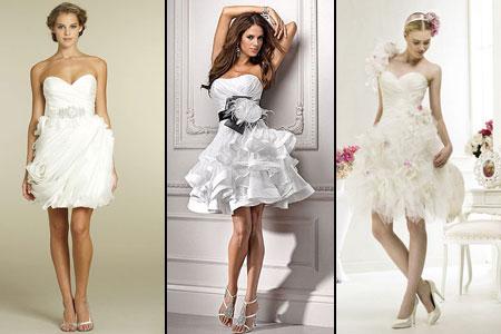 свадебные платья с короткой юбкой