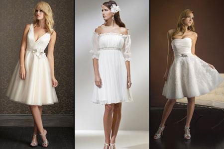 невесты в коротких платьях