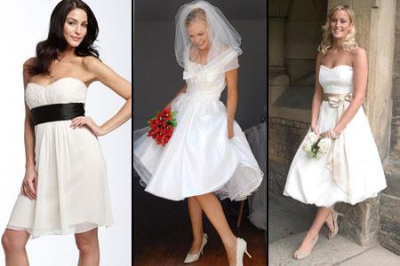 свадебные платья короткой длины