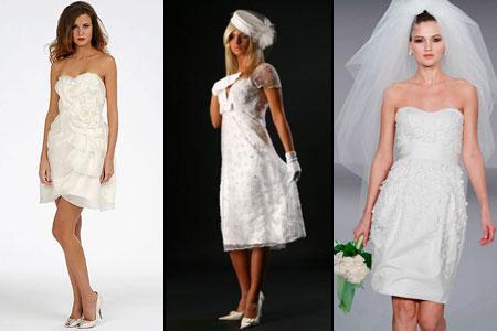 фото свадебных платьев с короткой юбкой