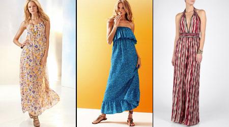 летние длинные платья макси