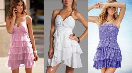 летние платья с воланами