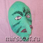 Как сделать простую маску в технике папье-маше для Хэллоуина