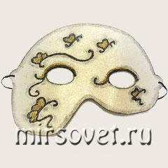 маска из картона на Хэллоуина
