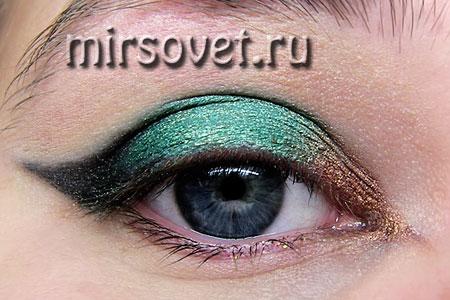 новогодний макияж глаз пошагово