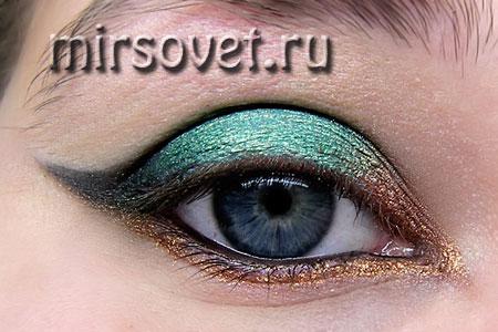новогодний макияж глаз пошаговый мастер-класс