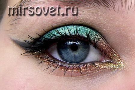 новогодний макияж глаз 2013