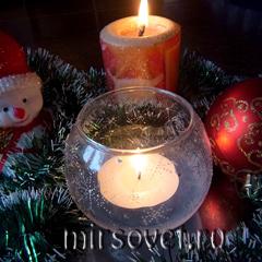 новогодний подсвечник со свечой